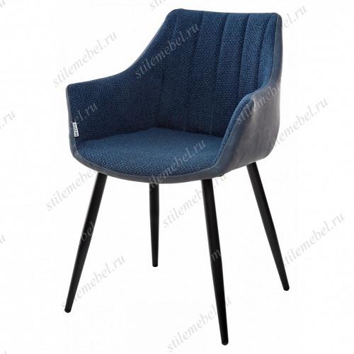 Стул BELINDA TRF-06 полночный синий, ткань/ RU-03 синяя сталь, PU