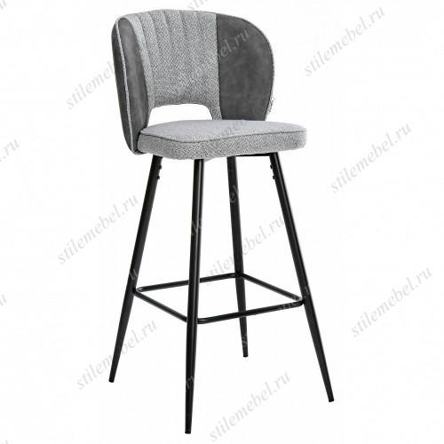 Барный стул HADES TRF-08 теплый серый, ткань/ RU-07 серая сталь, PU