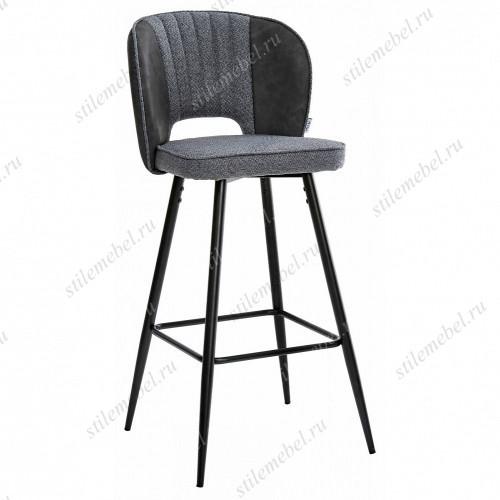 Барный стул HADES TRF-09 серый кварц, ткань/ RU-08 антрацит, PU