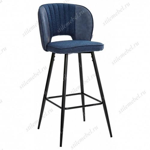 Барный стул HADES TRF-06 полночный синий, ткань/ RU-03 синяя сталь, PU