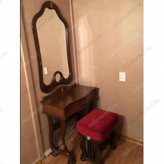 Туалетный столик с зеркалом и банкеткой Джульетта