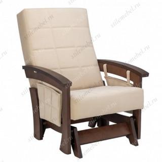 Кресло-качалка глайдер Нордик орех/бежевый