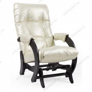 Кресло- гляйдер Модель 68 (венге/ Or.Perlam 106 ) жемчужный