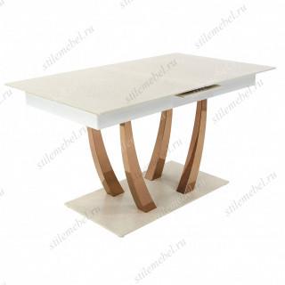 Стол MK-5702-WT цвет: White - прямоугольный раскладной