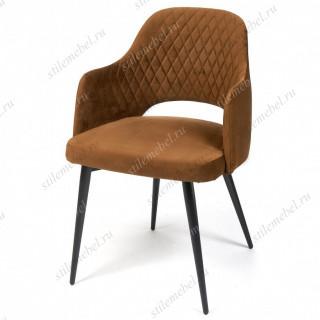 Кресло VALKYRIA (mod. 711) коричневый barkhat 11/черный каркас