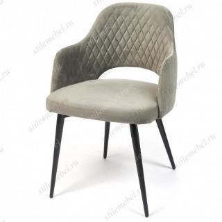 Кресло VALKYRIA (mod. 711) серый barkhat 26/черный каркас
