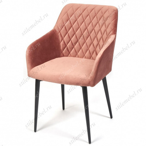 Кресло BREMO (mod. 708) коралловый barkhat 15/черный каркас