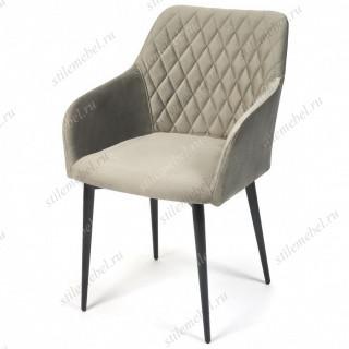 Кресло BREMO (mod. 708) серый barkhat 26/черный каркас