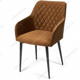 Кресло BREMO (mod. 708) коричневый barkhat 11/черный каркас