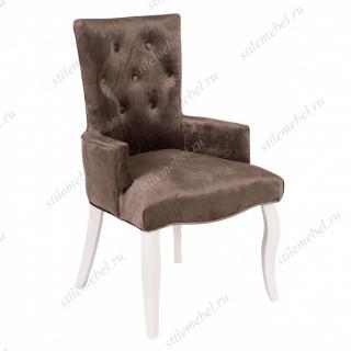 Кресло Виктория (эмаль белая / 15 - коричневый)