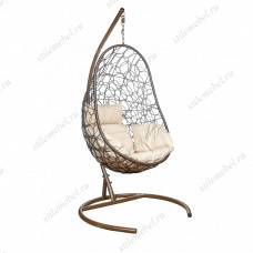 Кресло подвесное LESET Ажур коричневое