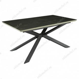 Стол DT-1902 MK-7701-BR 90х160(200)х76 см Темный графит