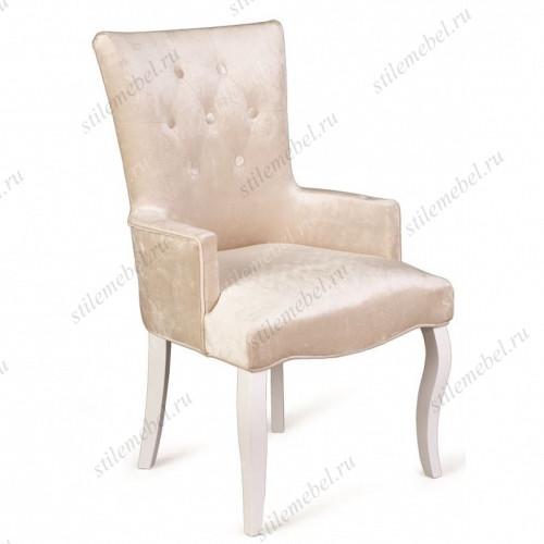 Кресло Виктория (эмаль белая / 30 - бежевый)