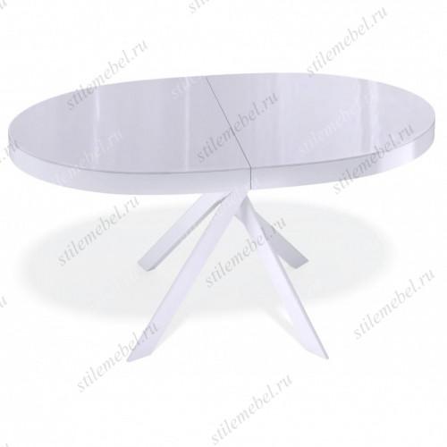 Стол VO1400 белый/стекло белый глянец