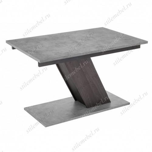 Стол Тирион бетон чикаго серый/дуб гладстоун табак