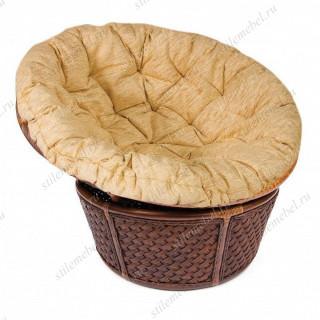 "Кресло 23/01 ""ANDREA"" /с подушкой/ Pecan Washed ткань крем"