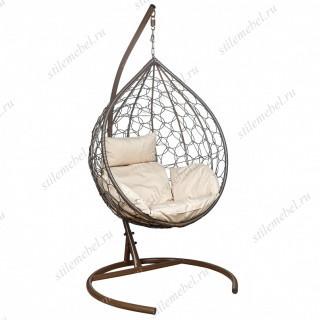 Кресло подвесное LESET ЭВА коричневое