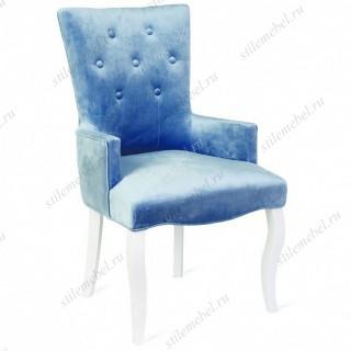 Кресло Виктория (эмаль белая / 9 - небесно-голубой)