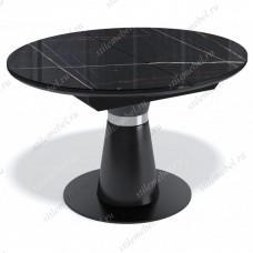 Стол Kenner BR1100 черный/стекло камень черный глянец