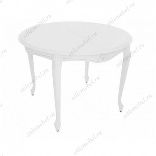 Стол Кабриоль круг тон 9 Белая эмаль