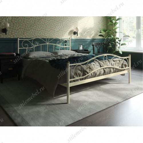 Кровать Глэдис с изножьем (140х200, бежевый)