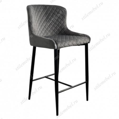 Барный стул ARTEMIS графит, велюр G108-92 (H=65cm)