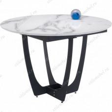 Стол Венера белый мрамор / графит