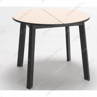 Стол Dikline UNIS 16 стекло крем/опоры черные