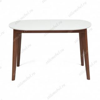 Стол обеденный раскладной BOSCO (Боско) Белый + Коричневый