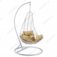 Кресло подвесное (mod. SC-010) с подушкой белый/белый