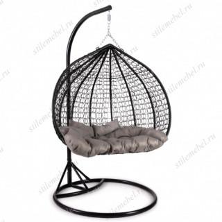 Кресло подвесное (mod. SC-007) с подушкой черный
