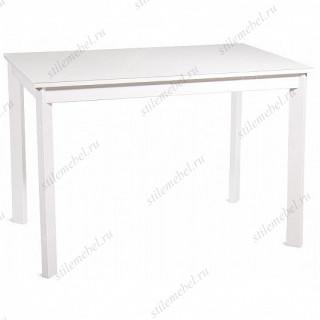 Стол НЕЛЬСОН-110(155)х68 белый/стекло белое