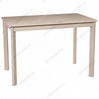 Стол НЕЛЬСОН-110(155)х68 капучино/стекло капучино