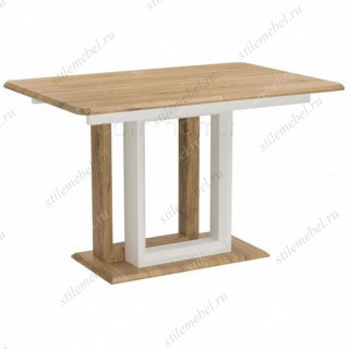 Стол Санса 120 дуб монтана / белая шагрень