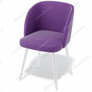 Стул 151KS фиолетовый 38/белый каркас