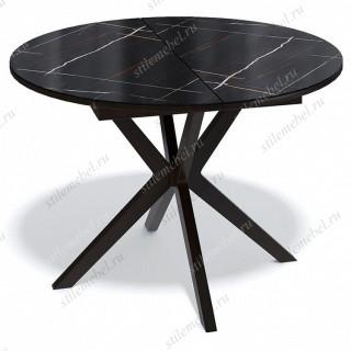 Стол KENNER B1100 венге/камень черный глянец
