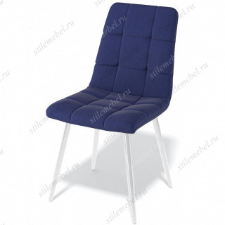 Стул Kenner 149KR темно-синий 60/белый каркас