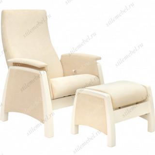 Комплект Кресло для кормления и укачивания + пуф Milli Sky дуб шампань, ткань Verona Vanila