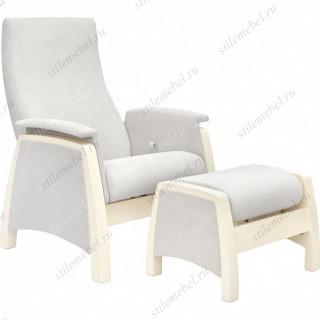 Комплект Кресло для кормления и укачивания + пуф Milli Sky дуб шампань, ткань Verona Light Grey