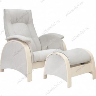 Комплект Кресло для кормления и укачивания + пуф Milli Fly дуб шампань, ткань Verona light grey