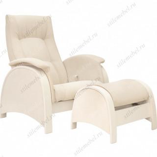 Комплект Кресло для кормления и укачивания + пуф Milli Fly дуб шампань, ткань Verona Vanila