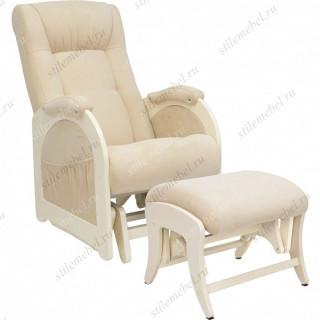 Комплект Кресло для кормления и укачивания + пуф Milli Joy дуб шампань, ткань Verona Vanila