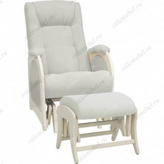 Комплект Кресло для кормления и укачивания + пуф Milli Joy дуб шампань, ткань Verona light grey