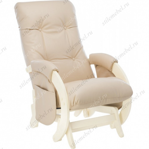Кресло для кормления Milli Smile Дуб шампань, к/з Polaris Beige