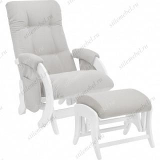 Комплект Кресло для кормления и укачивания + пуф Milli Smile/Uni  Молочный дуб, ткань Verona Light Grey