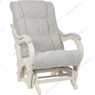 Кресло для кормления Milli Style Дуб шампань, ткань Verona Light Grey