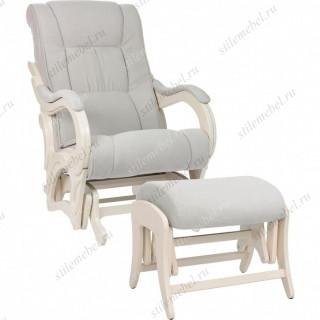 Комплект Кресло для кормления и укачивания + пуф Milli Style/Uni  Дуб шампань, ткань Verona Light Grey