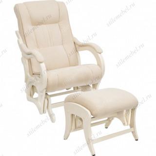 Комплект Кресло для кормления и укачивания + пуф Milli Style/Uni  Дуб шампань, ткань Verona Vanila