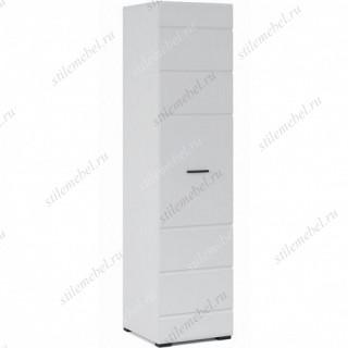 Шкаф Йорк 1дв, Белый/белый глянец