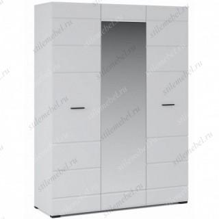 Шкаф Йорк 3дв, Белый/белый глянец